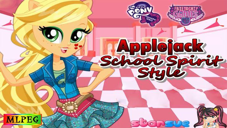 MLPEG Friendship Games Applejack School Spirit Style Dress Up Game