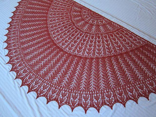 Ravelry: EZ 100th Anniversary Hearts Half-Circle pattern by Mwaa Knit free kn...