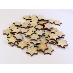 Dřevěné hvězdičky 2 cm - 10 ks