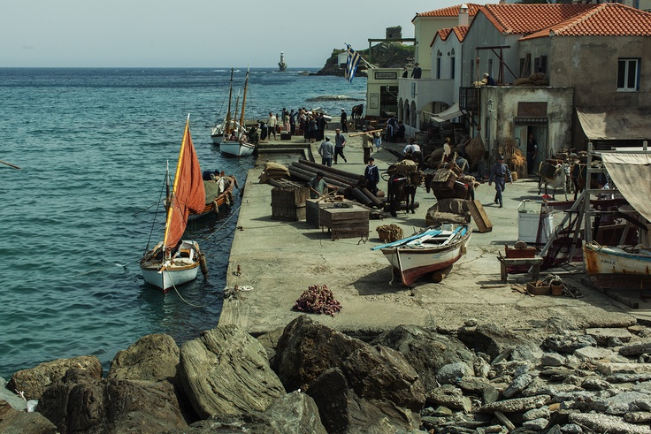 "VISIT GREECE| Beautiful Andros in Cyclades will be the setting for Voulgaris' new film Micra Anglia meaning ""Little England""!    photo: ©Nikos Nikolopoulos"