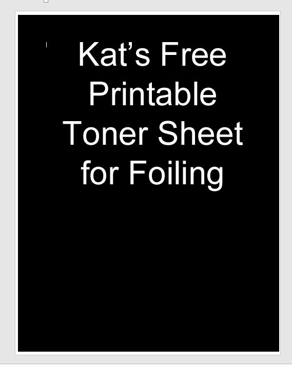 I created a free toner sheet that you can download for free by clicking on the link below. Just print it on cardstock either using a laser printer or by taking the file to your local Kinkos and ha…