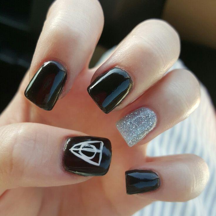 Love my new Harry Potter nails!! #nexgen # nails #black #silver - The 25+ Best Harry Potter Nails Ideas On Pinterest Harry Potter