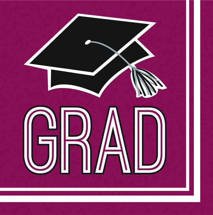 Graduation School Spirit Burgundy Red Napkins, 36 ct