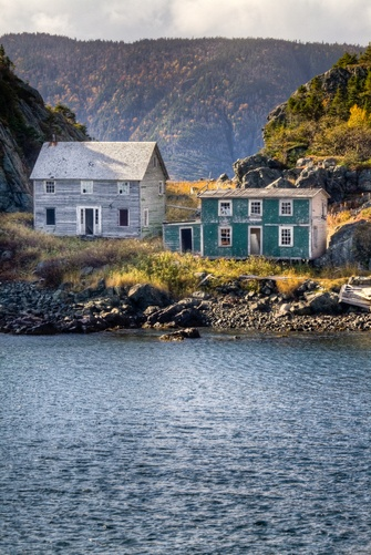 Abandoned saltbox style homes in Newfoundland, Canada. #maritimes #Canada #travel #abandoned