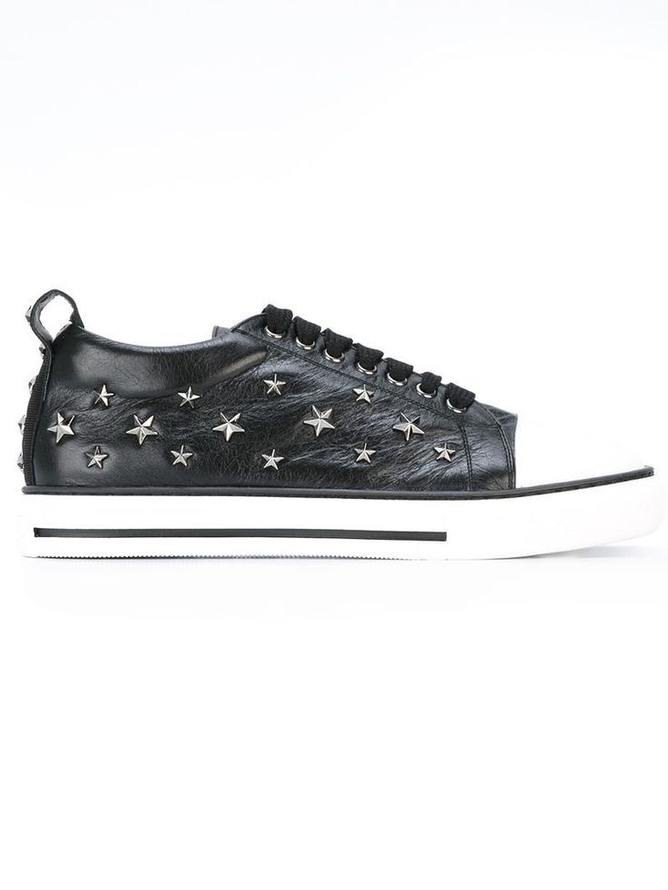 ¡Cómpralo ya!. Red Valentino - Studded Stars Trainers - Women - Cotton/Leather/Rubber - 39. Black cotton and leather studded stars trainers from Red Valentino. Size: 39. Gender: Female. Material: Cotton/Leather/rubber. , deportivas, sport, deporte, deportivo, fitness, deportivos, deportiva, deporte, trainers, sporty, plimsoll, sportschuhe, tenis, chaussuressportives, sportive, deportivas. Deportivas  de mujer color negro de RED Valentino.