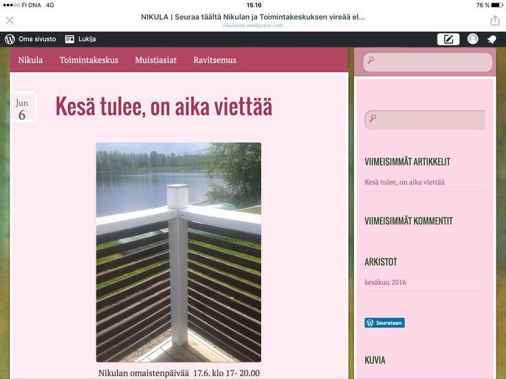 Nikulan ja toimintakeskuksen yhteinen blogi, vielä kesken, seuraile Https://nikulasite.wordpress.com