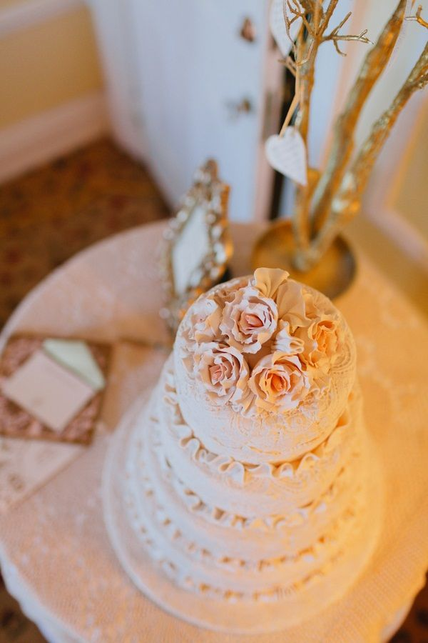 Beautiful pale pink wedding cake #wedding #cake  @Patricia Smith Drewnowska     Photo: www.janiceyiphotography.ca    Wedding Planner: www.traceymevents.ca Featured on: Wedding Obsession Wedding Blog http://www.weddingobsession.com/2014/01/29/luxurious-mexico-inspired-style-shoot/