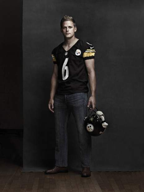 Pittsburgh Steelers kicker Shaun Suisham shows off the casual look in his jersey for the Steelers Style Fashion Show, 'Steelers Nation: Black & Gold Style.' He and his teammates and their families, as well as models featuring designs by Kiya Tomlin, Michael Kors and Robert Graham, will walk the runway on Oct. 11 at the East Club, Heinz Field to help raise money for UPMC Sports Medicine Concussion Program and Cancer Caring Center.