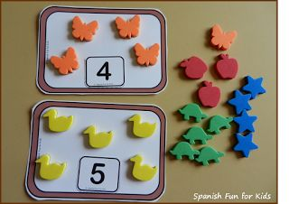 Build your child's counting skills with these fun ideas using manipulative!