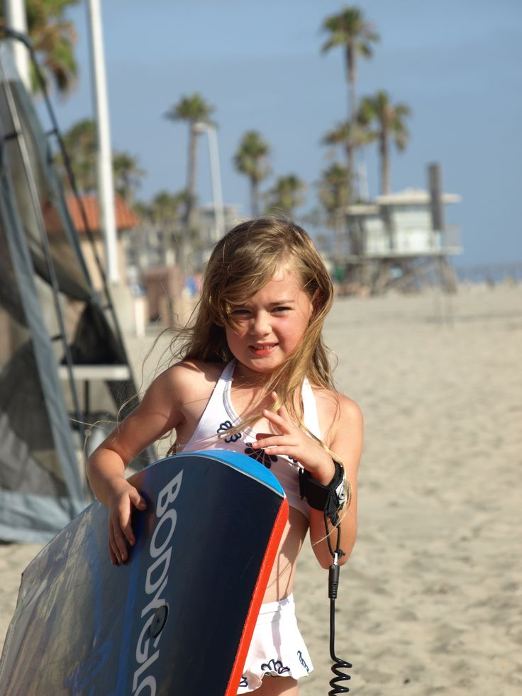 Eden learning how to Boogie Board this Summer