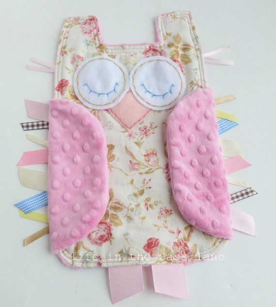 20 best images about cute baby gift ideas on pinterest baby girl gift owl ribbon tag blankie in roses flannel and pink minky blanket lovey lovie negle Image collections
