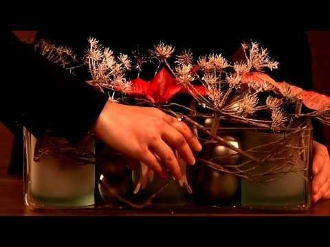 Dekorationsideen für den Fachhandel: Weihnachtsstern- Arrangements im rustikalen Landhausstil - YouTube