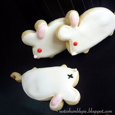 Lab mice cookies! :).  IDEA: If a small class or in partners, could make enough to have them 'pair' up and then have students do Punnett Squares based on diff characteristics based on the pair--eye color, fur color, etc.