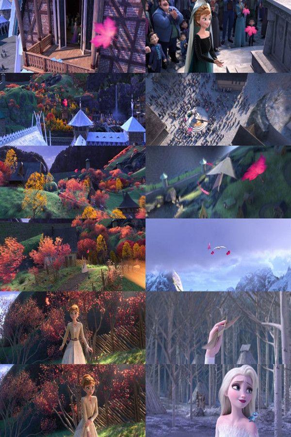 An Autumn Breeze Bridges The Distance Between The Sisters At The Start And End Of The Film Disney Frozen Elsa Disney Frozen Disney Cuties