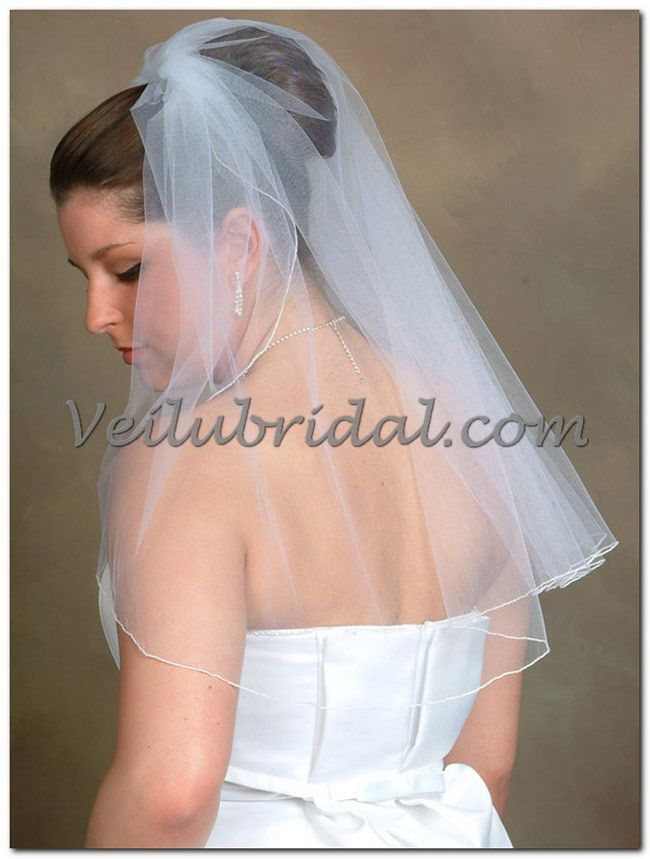 Elbow Length Veil 25 Long 72 Wide Diamond White Off Diy Wedding
