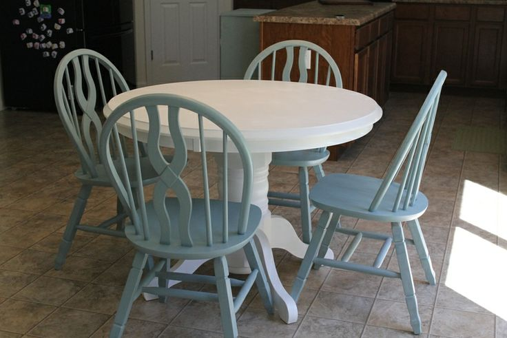 refinishing kitchen table with paint