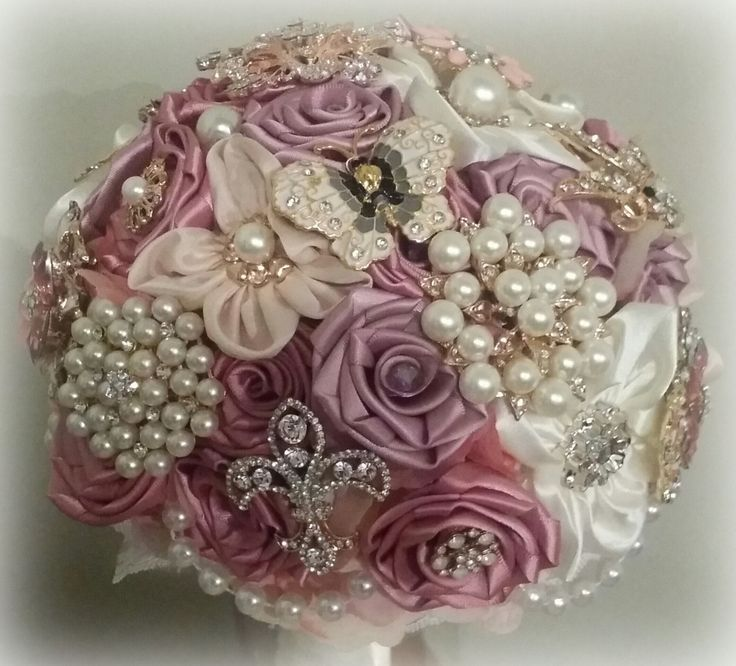 Brooch Bouquet by BloomsBlingCouture on Etsy