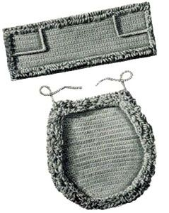 Toilet Seat Cover & Top Tray Set   Free Crochet Patterns