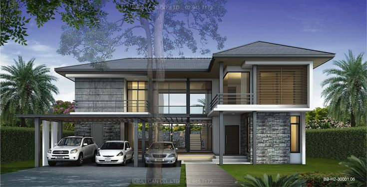 Appealing Professional Architectural Visualization Design With Outdoor Garage And Green Grass Garden Feat Awesome Balcony Inspirations of Exceptional Tropical House Design Exterior Idea For Your Home Tropical Decor Ideas Island Decorations Asian Tropical House Design Tropical Homes Costa Rica Pictures of Tropical Homes . 600x306 pixels