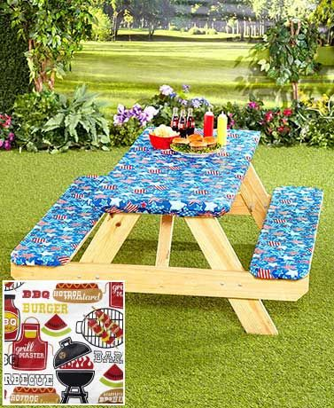 3-Pc. Picnic Table Covers