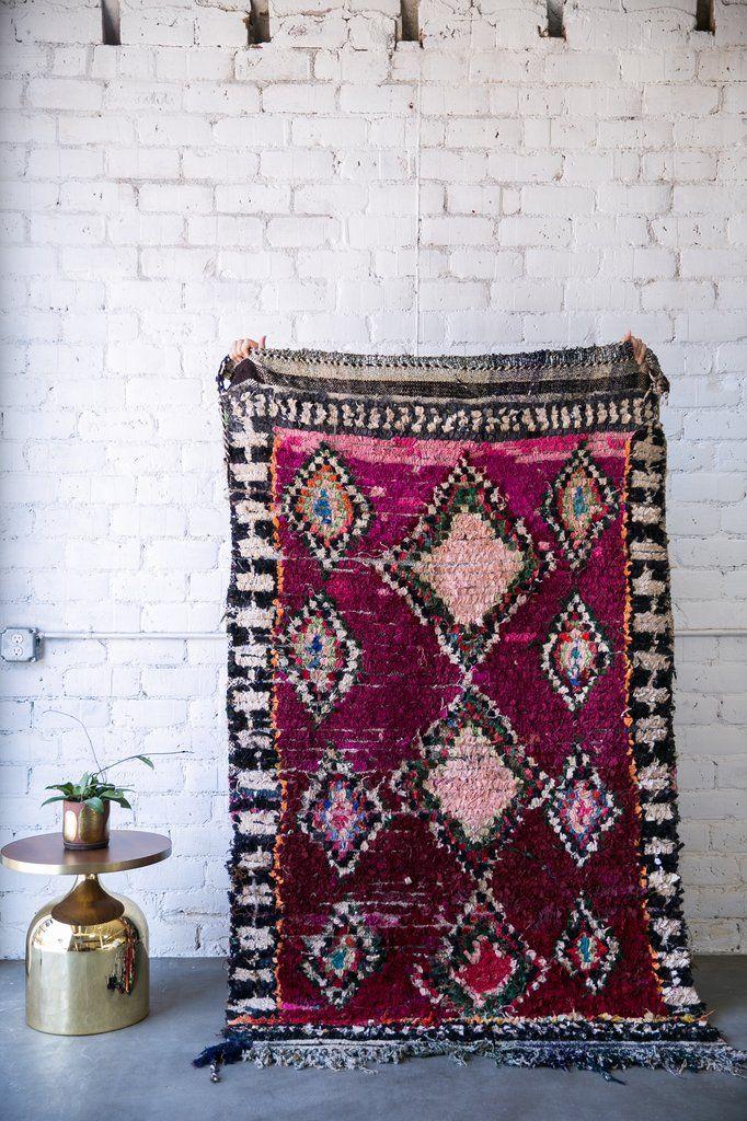 GARNET, JIM! boucherouite vintage moroccan berber carpet