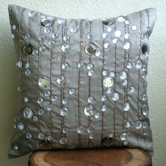 diamond strings decorative pillow covers 16x16 by