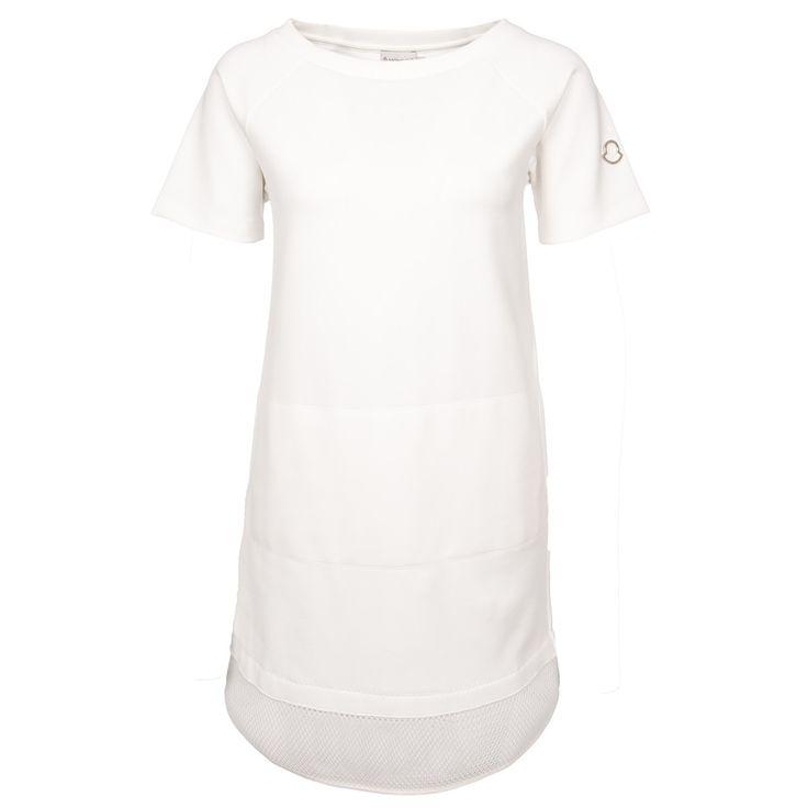 Moncler Kleid mit Neoprengitter in Weiß