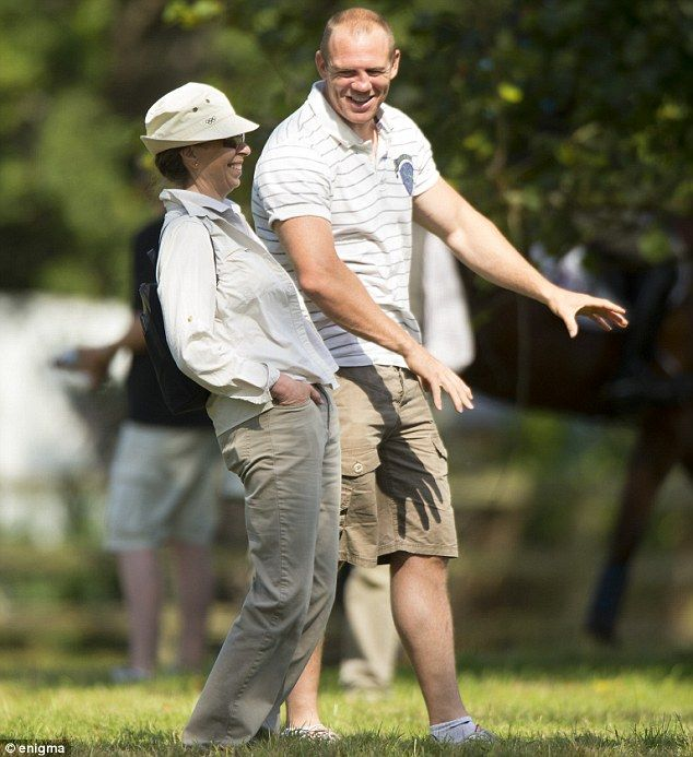 Princess Anne, Princess Royal with her son-in-law Mike Tindall