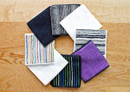 小倉織 縞縞SHIMA-SHIMAが今治タオルとコラボしたハンカチタオル |日本のインテリア雑貨セレクトショップ 柔和な生活