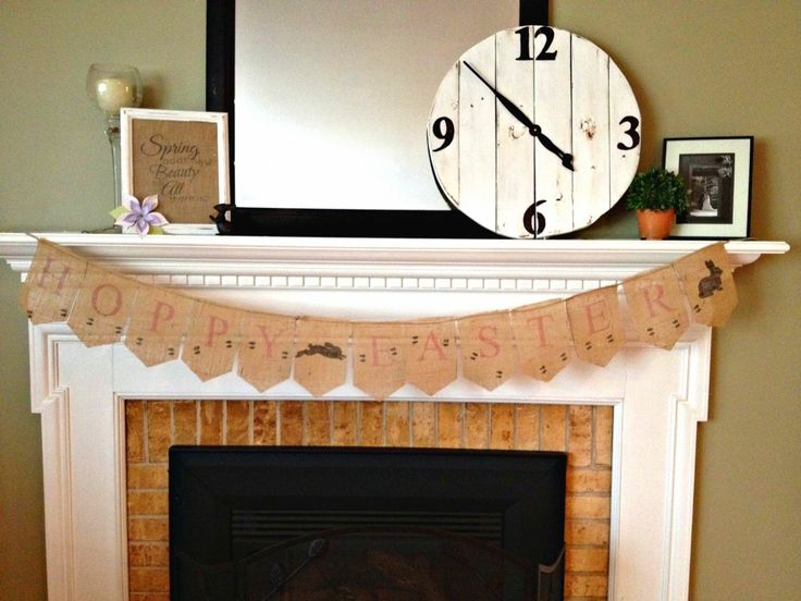 Two It Yourself: DIY Hopping Bunny Burlap Easter Banner