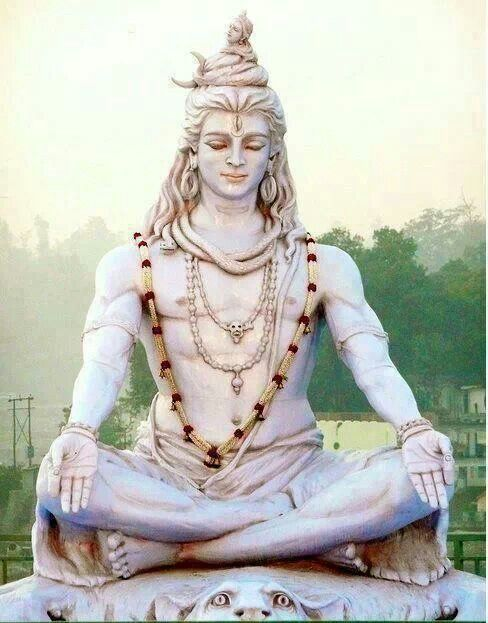 Shiva. God of destruction, transformation and regeneration. Father of Ganesha and husband of Parvati (Durga Mata). Carries a trident with three tines symbolizing creation, protection and destruction. Shiva is also known as Maheshvara, Rudra, Nataraja, among others.