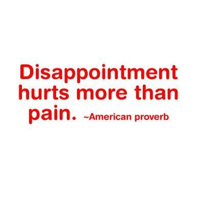 sad disappointment quotes