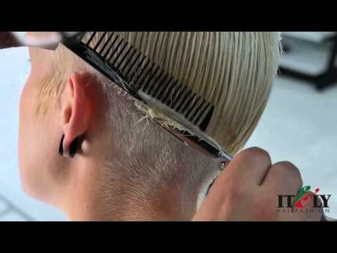 Itely Hairfashion: step by step - short haircut - YouTube