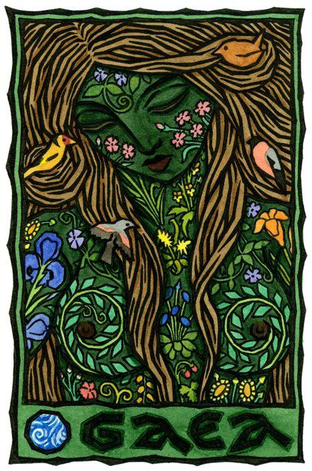Gaea Gea es considerada la madre de todos, el cual nutre y cuida de sus hijos, y trae bendiciones ricas. Como diosa de la tierra, Ella era también una diosa bajo mundo que trajo todas sus creaciones de nuevo a ella y destruida, así como creado
