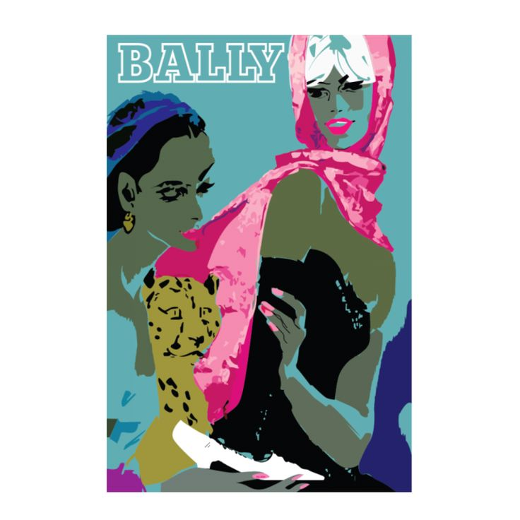 Bally two women vintage poster | hardtofind.