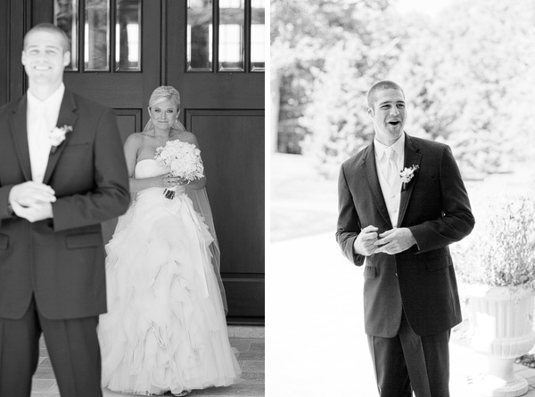 love the look on the groom's face