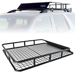 Top Basket Universal Roof Rack Cargo Car Luggage Carrier Traveling SUV  Wagons