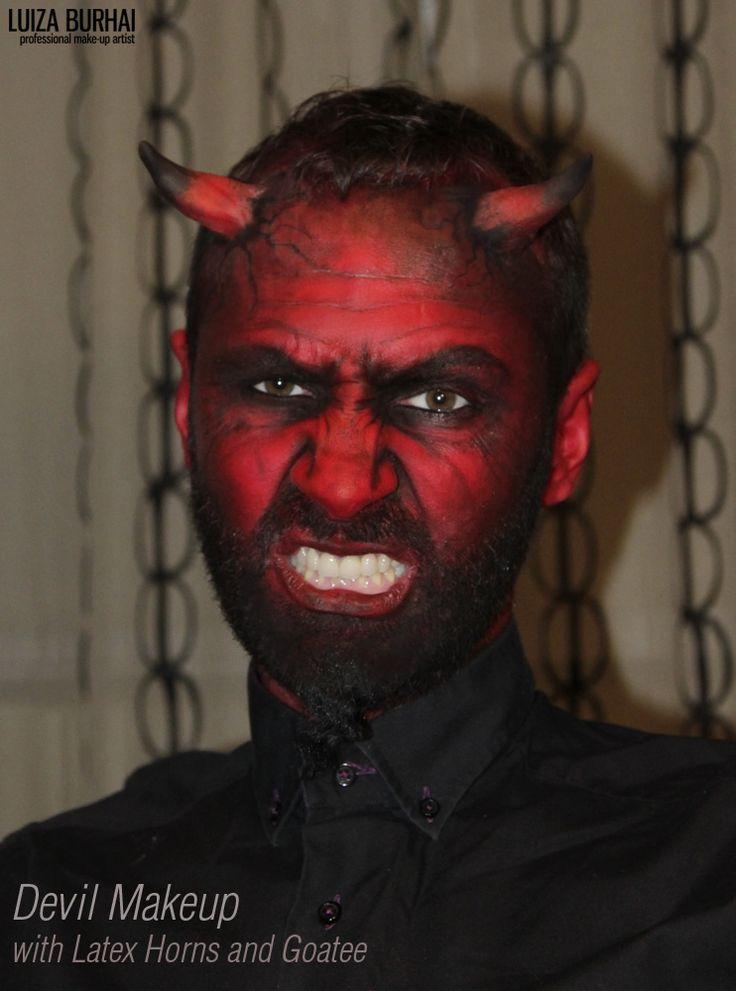 devil makeup with latex horns and goatee halloween devil pinterest teufel schminken. Black Bedroom Furniture Sets. Home Design Ideas