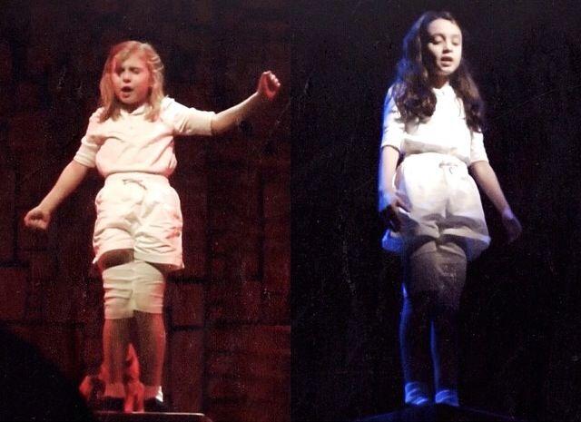 Brooklyn Shuck and Ava Ulloa in Matilda the Musical Broadway