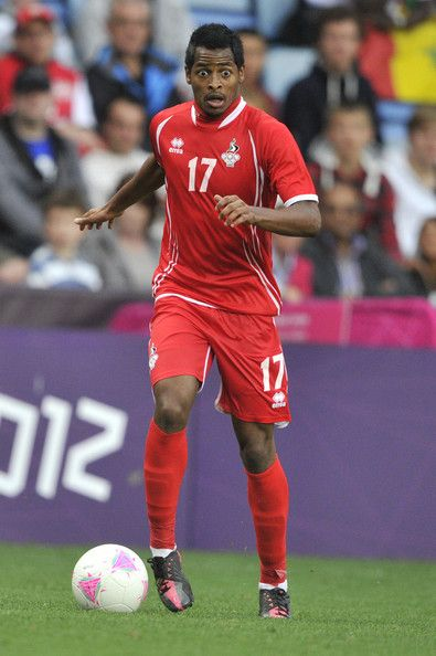Mohamed Fawzi of United Arab Emirates kick the ball during the Men's Football first round Group A Match between Senegal and United Arab Emirates, on Day 5 of the London 2012 Olympic Games at City of Coventry Stadium on August 1, 2012 in Coventry, England.
