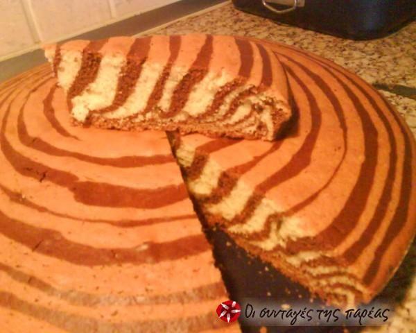 Εντυπωσιακό κέικ ζέβρα #sintagespareas