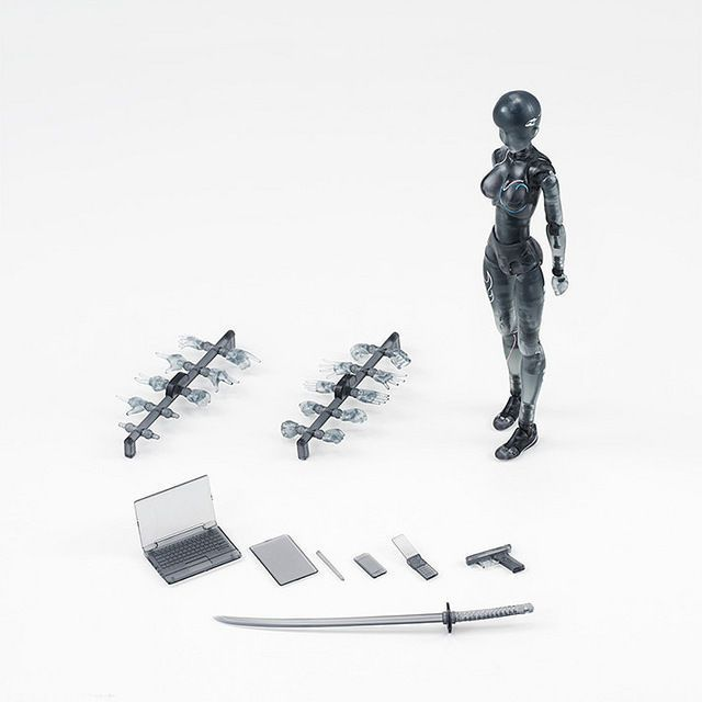 Figma S.H.Figuarts Action Figure SHF Body-Chan 2.0 DX SET Gray PVC Stand Holder