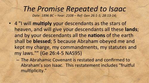 Be Fruitful and Multiply – Abrahamic Covenant Restated to Isaac and Jacob — The BIRTH CONTROL Movie Project