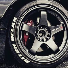 Write anything you want on your tires using the RC Style raised decals.  Check out our site TIREDECO.CA  #nonakedtires #tiredeco #bitchrelax #nismo #brembo #permanenttiregraphics #auto #nissan #nismoracing #lmgt4 #jdm #torontojdm
