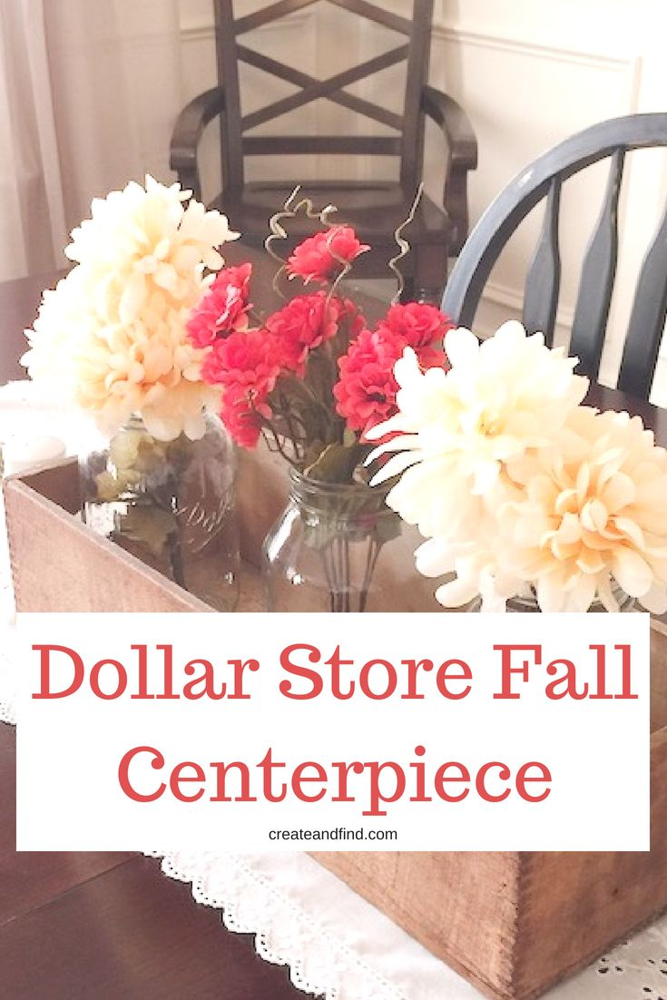 5 Minute Thrifty DIY Fall Wreath and Centerpiece with Dollar Store Supplies