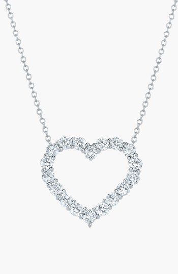 Kwiat Open Diamond Heart Pendant Necklace available at #Nordstrom