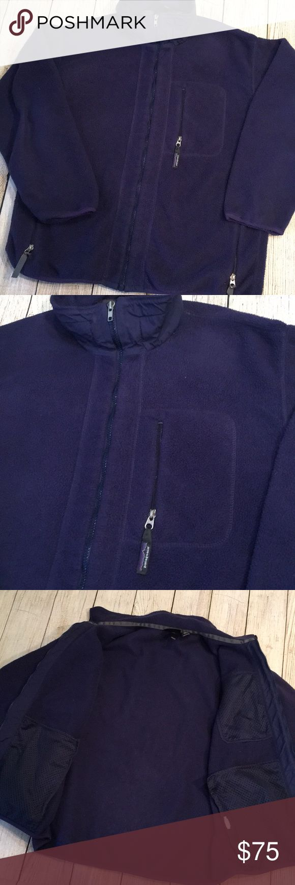 Vintage Patagonia Zip Up Vintage Patagonia dark purple zip up (around 2003) in great gently warn condition. Very minor pilling.  Please no low ball offers, I work hard to find, clean, inspect, mend and post all unique products, I am working to pay off school loans and always sell my products at great prices 😊 Patagonia Jackets & Coats