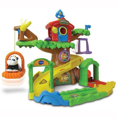 Vtech Toot-Toot Animals Tree House The VTech Toot-Toot Animals Tree House features an electronic Toot-Toot animals panda and 5 Smartpoint locations which respond to the panda with fun phrases, animal and nature sound effects and melodi http://www.MightGet.com/may-2017-1/vtech-toot-toot-animals-tree-house.asp