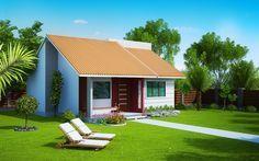 Planta de Casa Londrina: Casa pequena com 2 quartos - Plantas de Casas