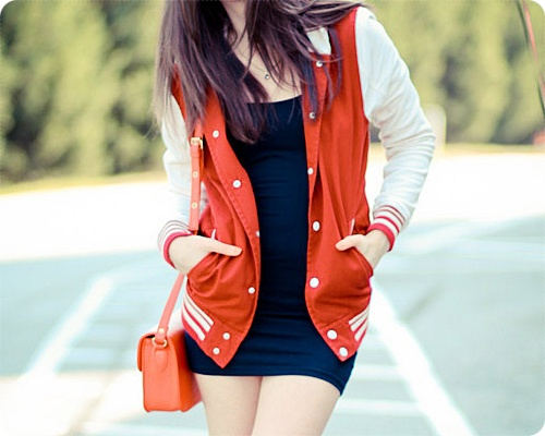 varsity jacketBookmarks, Old Schools, Varsity Jackets, Couture Paris, Colleges, Plays Dresses, Style Jackets, Arrival Red, Fashion 101